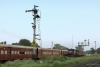 Train to Patalpani 011 - More semaphores outside Mhow - the advanced starter and the home signal with 4 arms