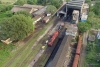 Train to Patalpani 014 - Locos under heavy repairs at the Mhow diesel loco shed