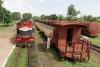Train to Patalpani 033 - Train 52975 awaits a crossing at Patalpani
