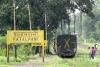 Train to Patalpani 038 - A train departs Patalpani towards Mhow
