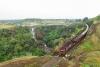 Train to Patalpani 044 - Train 52963 passing the Patalpani waterfalls