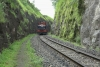 Train to Patalpani 052 - Banker in a cutting between Tunnel No.2 and Ravine Viaduct No.2
