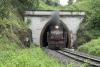 Train to Patalpani 064 - Ex-Akola train 52988 emerges from tunnel no.3