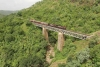 Train to Patalpani 076 - Akola bound train 52975 with a banker in tow crosses Ravine Viaduct No.1