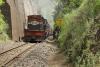 Train to Patalpani 078 - Train 52988 labours uphill to Patalpani just before Ravine Viaduct No.1