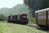 Train to Patalpani 109 - A loco with a banker in tow detaches itself from the rake at Kalakund