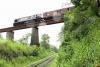 Train to Patalpani 132 - Train 52976 from Akola passes over the viaduct