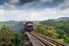 Train to Patalpani 138 - Train 52973 on the Dhulghat spiral viaduct