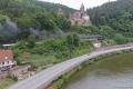 Dampfspektekal 2014 049 - Steam surfers special train passes Zwingenberg castle