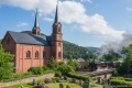 Dampfspektekal 2014 094 - BR 01 202 passes the church at Wilgartweisen