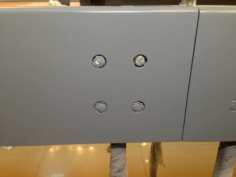module construction leg flange exterior view