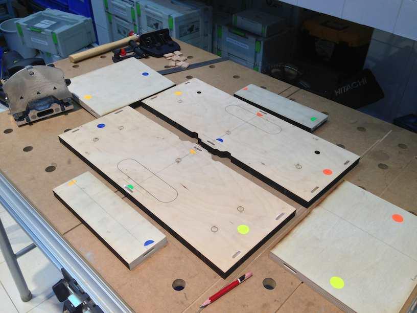 module construction wood cut