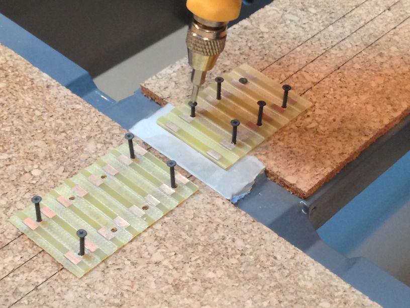 alignment module screws into tie plate
