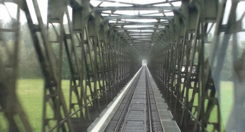 passing thru the bridge