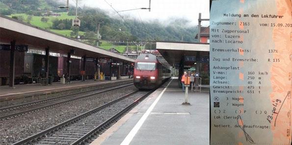 train arrival and meldung