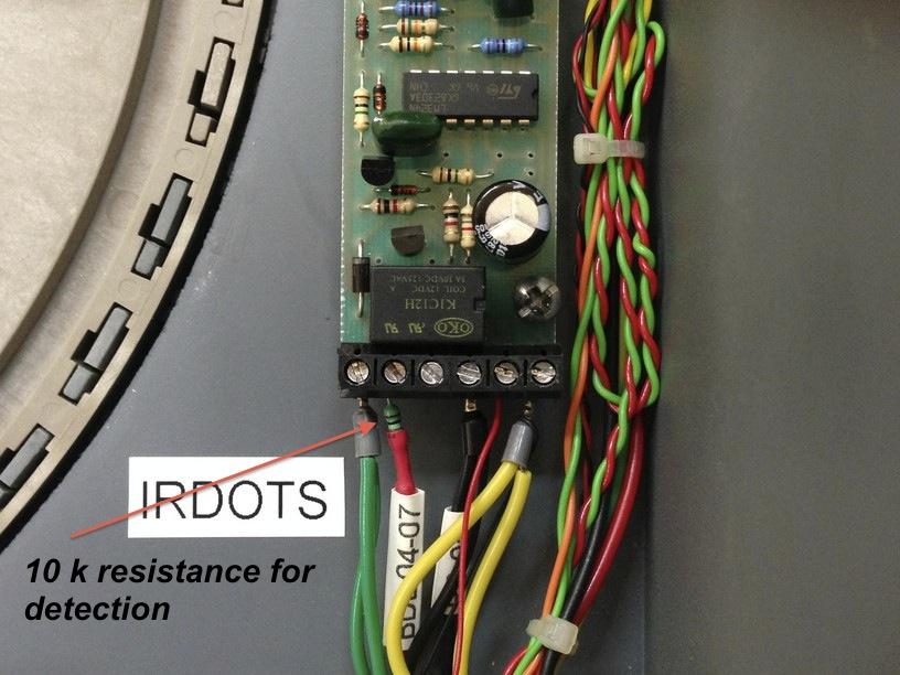 wiring IRDOTS closeup