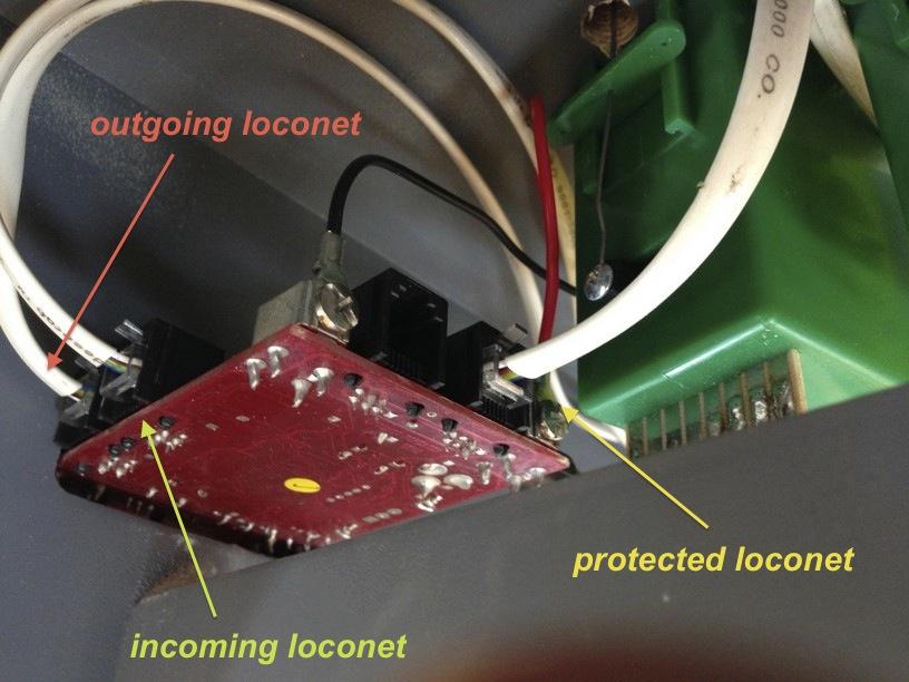 wiring LNRP loconet cabling