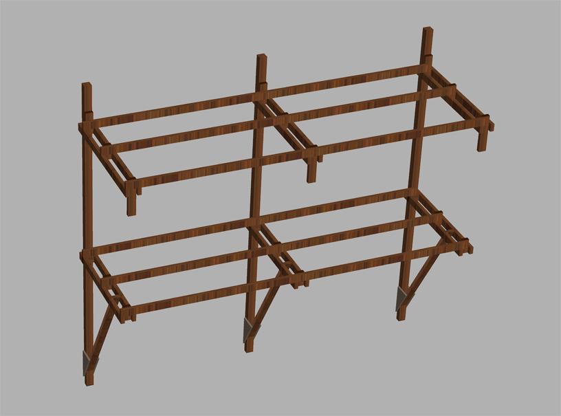 abedstern benchwork-main pillar with stringer