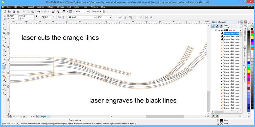 abendstern trackwork corel draw rual area cut plan