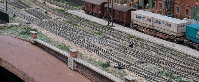 abendstern trackwork double crossover installed