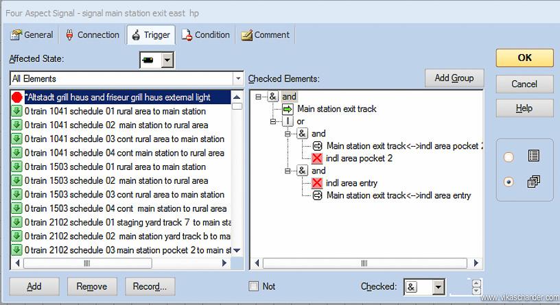 Abendstern Computer Control signal logic