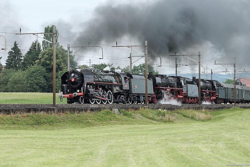 Gotthard Dampfspektakel blog - A steam loco triple header is a rare treat