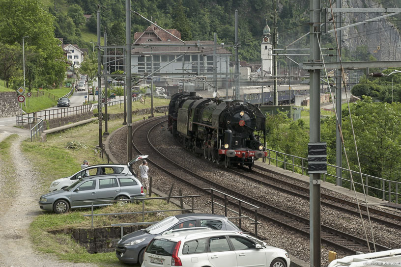 Gotthard Dampfspektakel blog - Last of the steamers at Sisikon