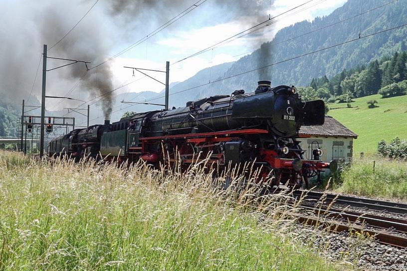 Gotthard Dampfspektakel blog - the steam twins dpearting Rodi Fiesso