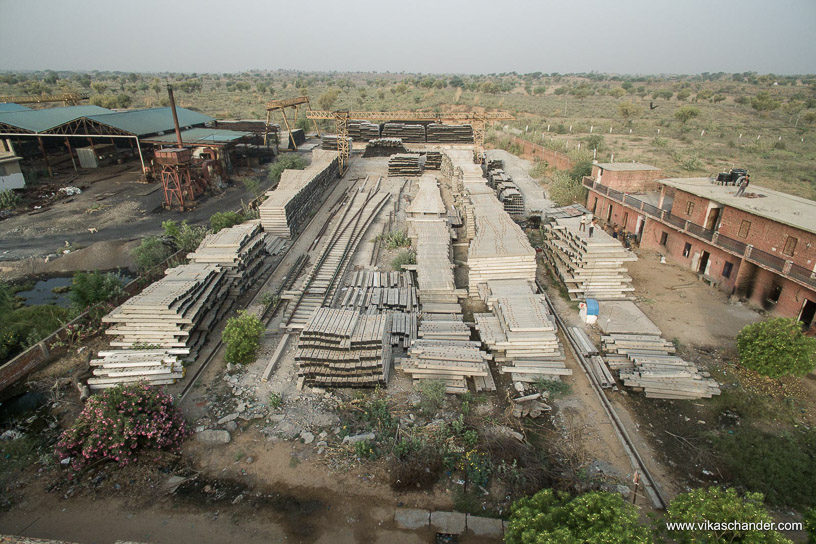 Shekhawati Express blog - A concrete sleeper factory north of Bissau