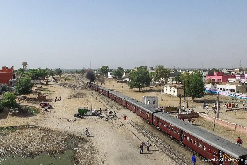 Shekhawati Express blog - After a brief halt it departs towards Sikar
