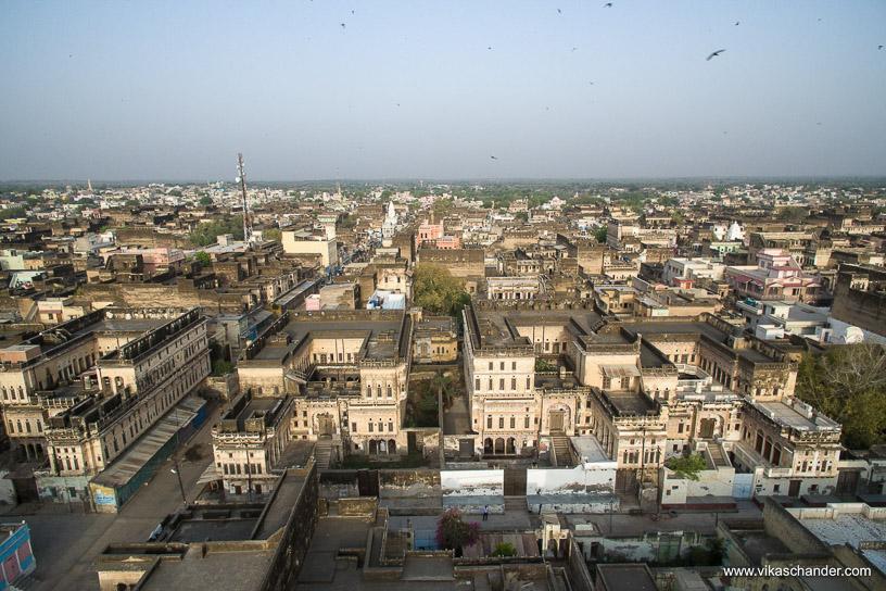 Shekhawati Express blog - An aerial view of the town of Ramgarh Shekhawati