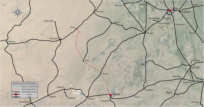 Shekhawati Express blog - JRSC routes map for blog